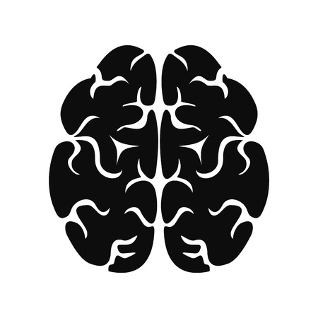 Brain icon. Simple illustration of brain vector icon for web design isolated on white background Illustration