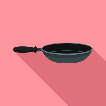 Fry pan icon. Flat illustration of fry pan vector icon for web design