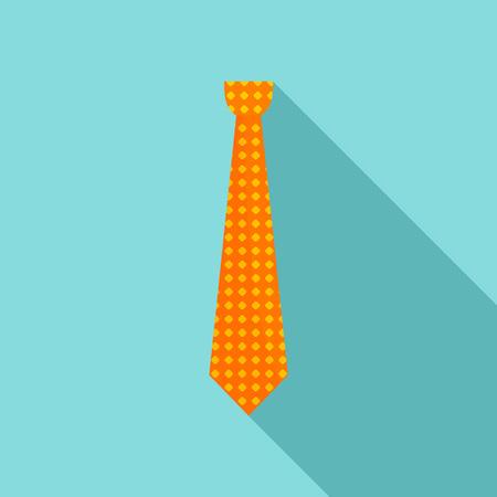 Necktie icon. Flat illustration of necktie vector icon for web design Illustration