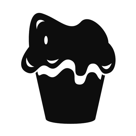 Halloween cake icon. Simple illustration of halloween cake vector icon for web design isolated on white background