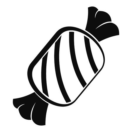 Leckeres Bonbon-Symbol. Einfache Illustration der leckeren Bonbonvektorikone für das Webdesign lokalisiert auf weißem Hintergrund Vektorgrafik