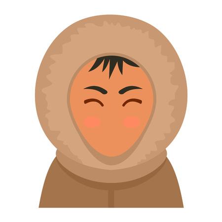 Alaska man icon. Flat illustration of alaska man vector icon for web design