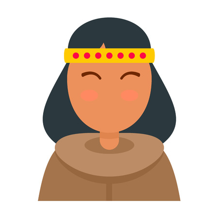 Alaska woman icon. Flat illustration of alaska woman vector icon for web design