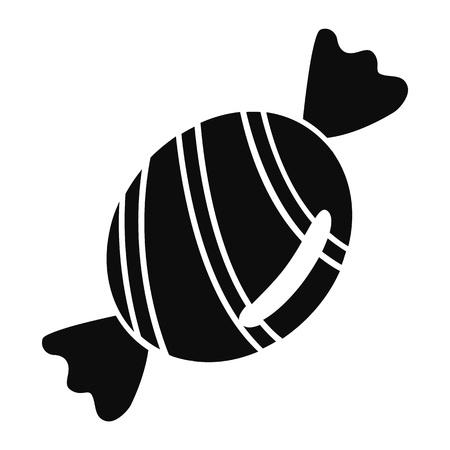 Bonbon icon, simple style Illustration