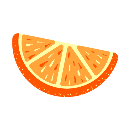 Orange sugar jelly icon, cartoon style