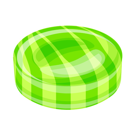 Green caramel icon. Cartoon of green caramel vector icon for web design isolated on white background