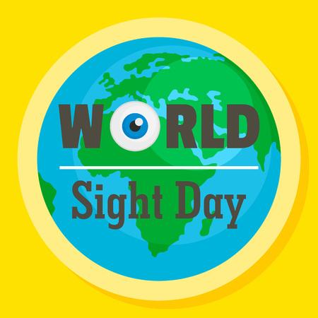 International sight day concept background. Flat illustration of international sight day vector concept background for web design