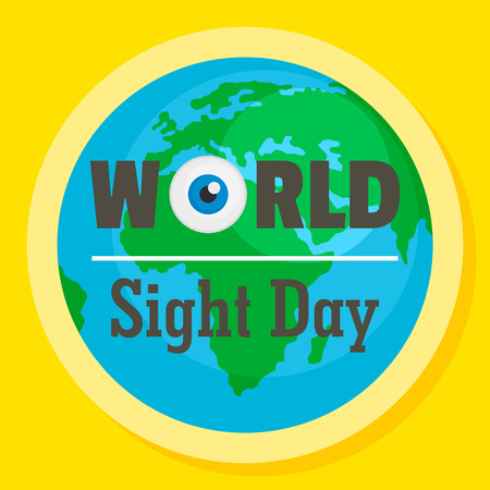 International sight day concept background. Flat illustration of international sight day vector concept background for web design