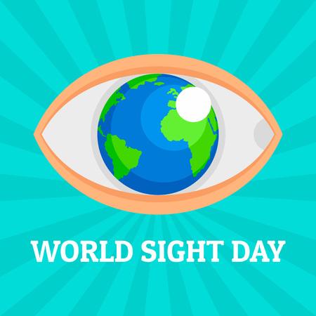 Wereld oog dag concept achtergrond. Vlakke afbeelding van wereld oog dag vector concept achtergrond voor webdesign Vector Illustratie