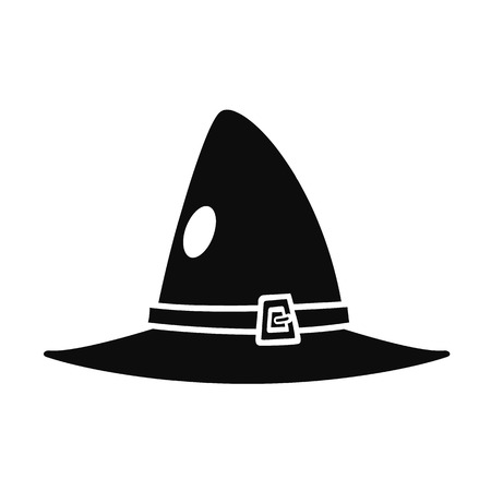 Witch hat icon. Simple illustration of witch hat vector icon for web design isolated on white background