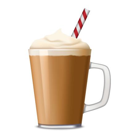 Tasse d'icône de café glacé. Illustration réaliste de tasse de café glacé icône vecteur pour la conception web isolé sur fond blanc