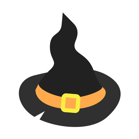 Witch hat icon. Isometric of witch hat vector icon for web design isolated on white background