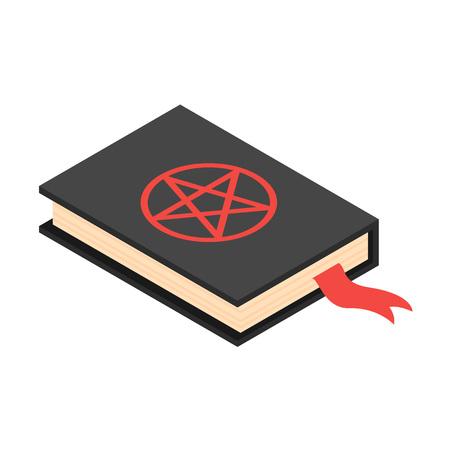 Icône de livre de Satan. Isométrique de l'icône vecteur livre satan pour la conception web isolé sur fond blanc Vecteurs