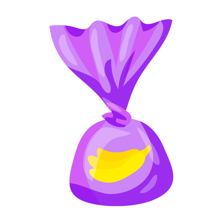 Banana truffle icon. Cartoon of banana truffle vector icon for web design isolated on white background