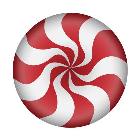 Candy swirl caramel icon. Realistic illustration of candy swirl caramel vector icon for web design isolated on white background