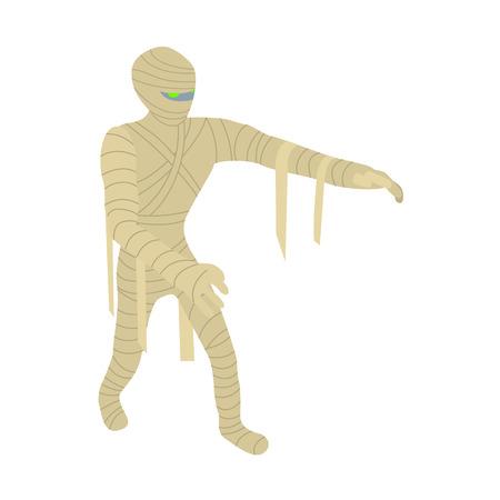 Mummy icon. Isometric of mummy vector icon for web design isolated on white background