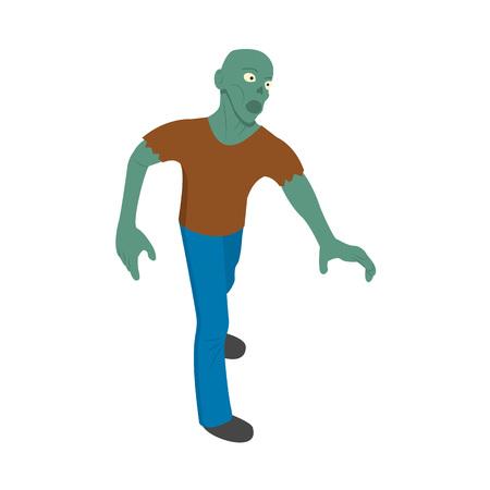 Icône de l'homme zombie. Isométrique de l'icône vecteur homme zombie pour la conception web isolé sur fond blanc