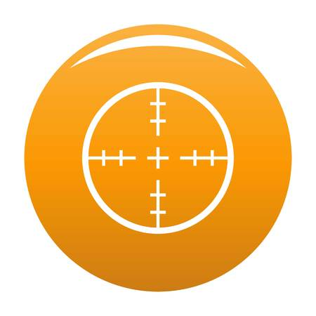Radiolocating icon. Simple illustration of radiolocating vector icon for any design orange