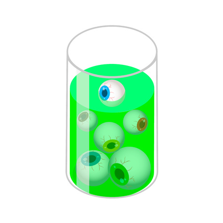 Glass with eyes icon. Isometric of glass with eyes vector icon for web design isolated on white background