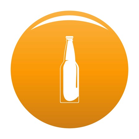 Closed bottle icon vector orange Çizim