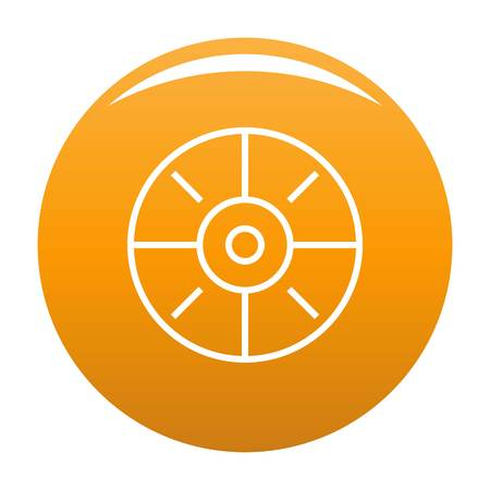 Sport target icon vector orange