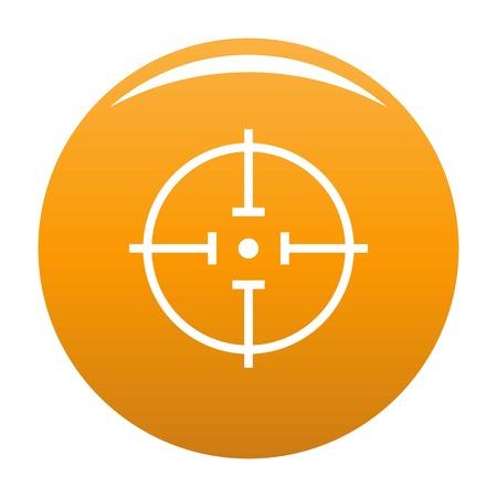 Radiodetektor-Symbolvektororange