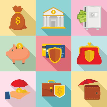 Deposit banner set. Flat illustration of deposit vector banner set for web design Foto de archivo - 110042191