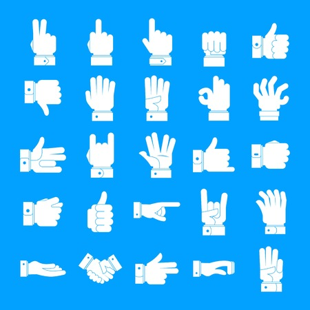 Gesture icons set. Simple illustration of 25 gesture vector icons for web