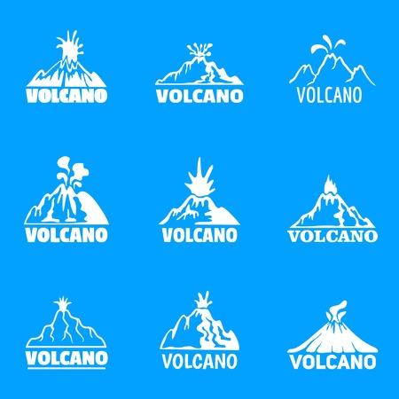 volcano set, simple style 向量圖像