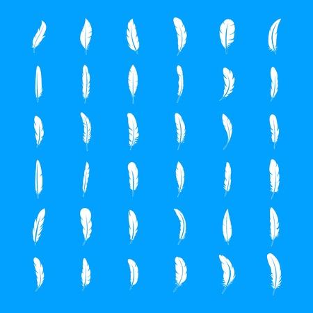 Conjunto de iconos de plumas de tinta, estilo simple Ilustración de vector