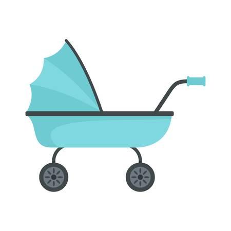 Icono de carrito de bebé. Ilustración plana del icono de vector de carro de bebé para diseño web Ilustración de vector