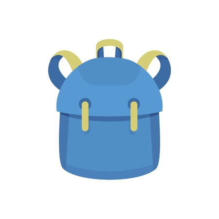 Kid backpack icon. Flat illustration of kid backpack vector icon for web design 向量圖像