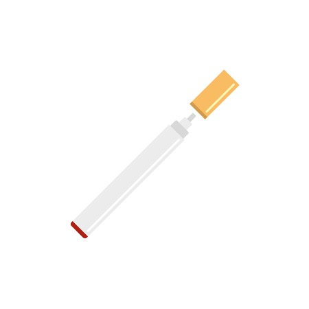 Electronical cigarette icon. Flat illustration of electronical cigarette vector icon for web design