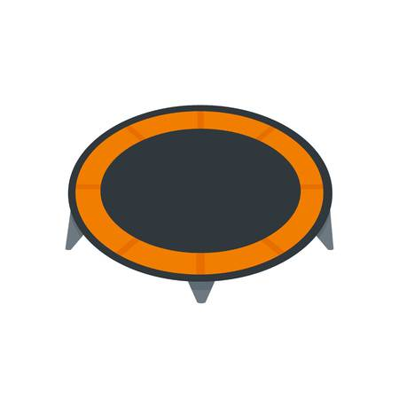 House trampoline icon. Flat illustration of house trampoline vector icon for web design Illustration