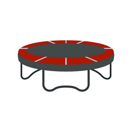Garden trampoline icon. Flat illustration of garden trampoline vector icon for web design