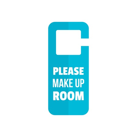 Please make up room hanger icon. Flat illustration of please make up room hanger vector icon for web design Ilustra��o