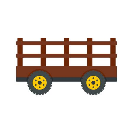 Farm tow icon. Flat illustration of farm tow vector icon for web design