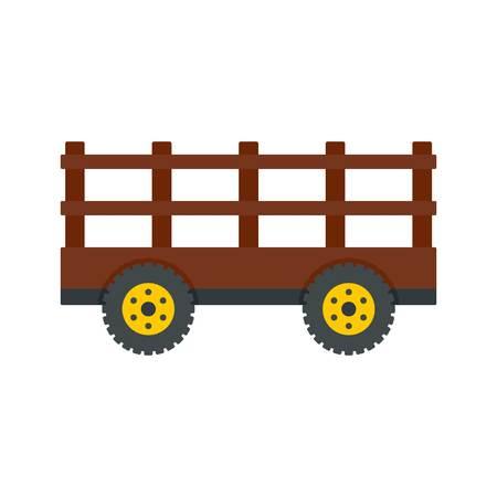Farm tow icon. Flat illustration of farm tow vector icon for web design