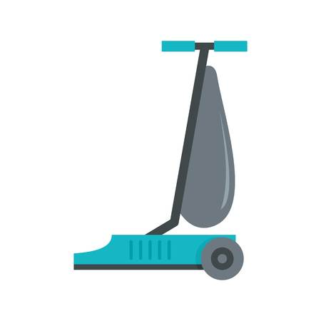 Commercial vacuum cleaner icon. Flat illustration of commercial vacuum cleaner vector icon for web design Illustration