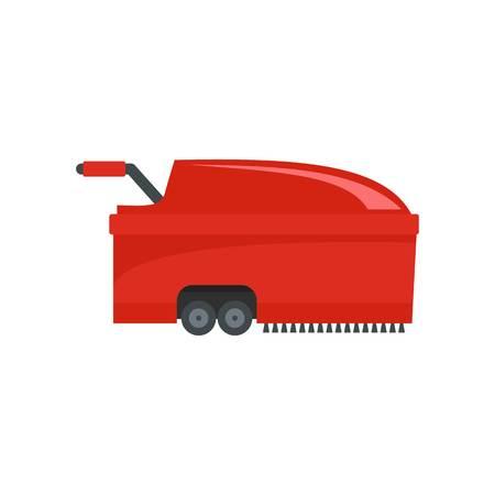 Hall vacuum cleaner icon. Flat illustration of hall vacuum cleaner vector icon for web design