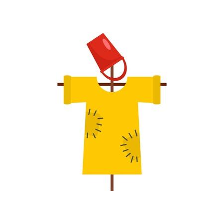 Garden scarecrow icon. Flat illustration of garden scarecrow vector icon for web design Illustration