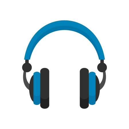 Retro headphones icon. Flat illustration of retro headphones vector icon for web design