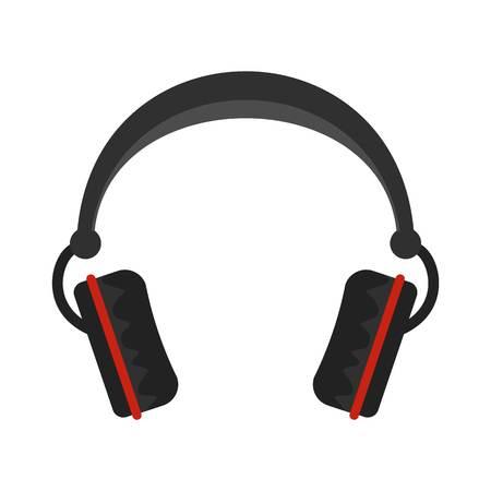 Modern headphones icon, flat style