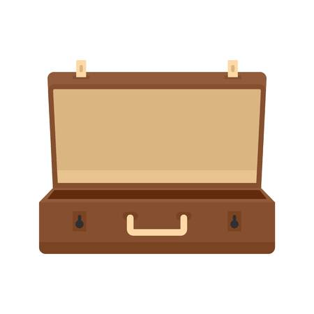 Travel case icon, flat style
