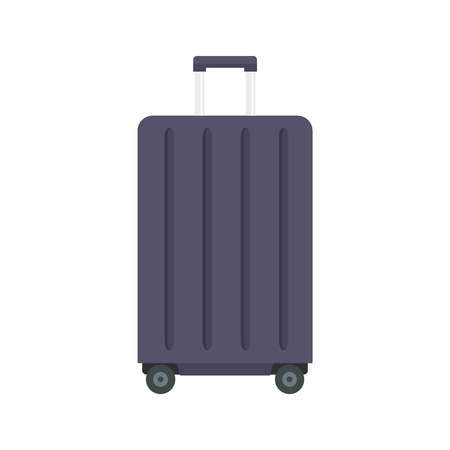 Travel wheels bag icon. Flat illustration of travel wheels bag vector icon for web design
