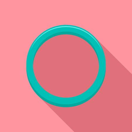 Hormonal ring icon, flat style