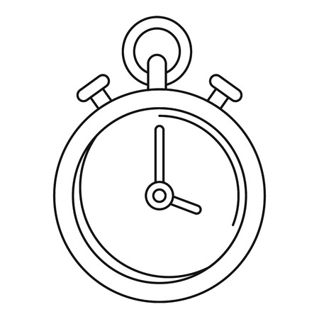 Contraceptive stopwatch icon, outline style
