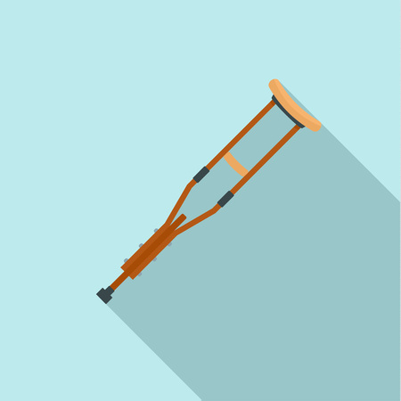 Wood crutch icon. Flat illustration of wood crutch icon for web design Stok Fotoğraf