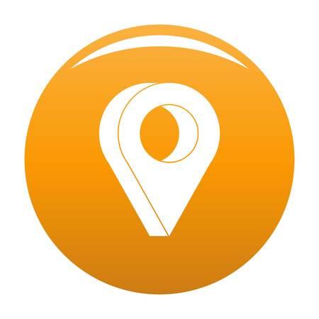 Destination icon. Simple illustration of destination icon for any design orange Banque d'images