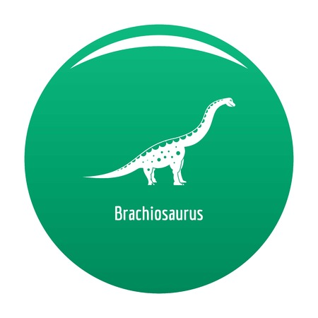 Brachiosaurus icon. Simple illustration of brachiosaurus icon for any design green Stock Illustration - 108430317
